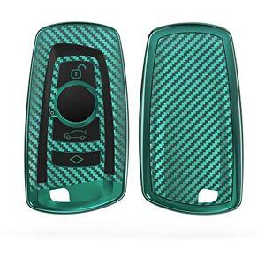 kwmobile Funda Compatible con BMW Carcasa para Llave del Coche BMW Llave de Coche con Control Remoto de 3 Botones (Solo Keyless Go) diseño Carbono