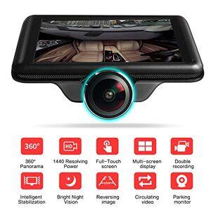 SDRFSWE Cámara De La Rociada del Coche Coche DVR con 1080p IPS Pantalla Táctil Panorámica De Gran Angular Manejo De Grabadora Cámara De Coche Hablar