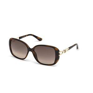 GUESS Women's Gradient Gu7563 GU7563-S-552F-59 Brown Rectangle Sunglasses