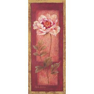 PosterArtNow Rosa y Peonía roja, paneles; Decoración Floral; 3, Rojo, Three 8x20in Poster Prints