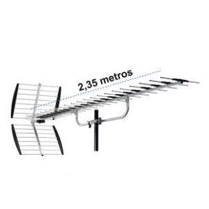 Master - Antena de Alta definición para Zonas de difícil recepción, pre-Armada, Exterior, 39 Elementos, Aluminio, Ganancia de 16db, Alcance de 200 km Ideal para sintonizar la señal Digital