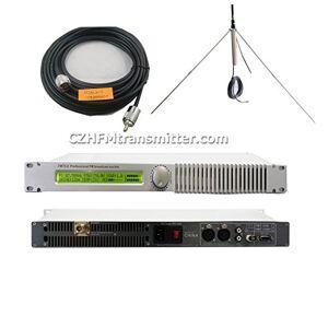 CZH 0-150W 100W FM Transmitter con GP FM Antena y 20m RF Cable Pack para FM Radio Station, 150WGP100.