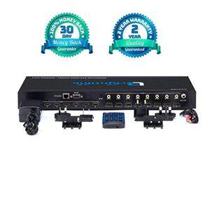 Brightlink AV Brightlink Matrix Switcher Audio Video Distribution Systems Matrix Setwith Receivers   Full HD 1080P, 3D, soporta HDCP   WiFi App Control, Brightlink 8x8 HDMI 2.0 Matrix