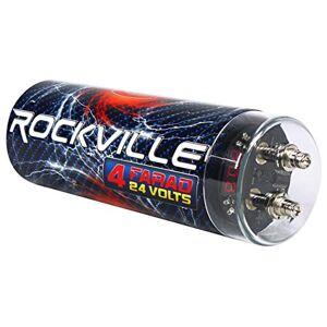Rockville Apm10b Subwoofer Pro de 10 Pulgadas 400 W Alimentado/Activo Estudio subwoofer, 4 Faradio, Negro