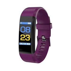 SHJ Sport Bluetooth Smart Watch ID115 Brazalete con rastreador de Ejercicios Deportivos con Reloj OLED Screen Smart Watch Wristband Podómetro (Negro) (Color : Púrpura)