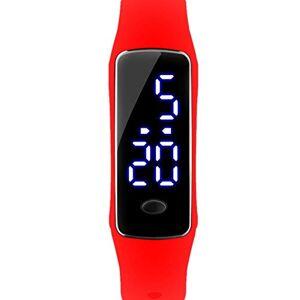 WATCHBB Relojes electrónicos Pulseras Impermeables Relojes estudiantiles Niños Niños Relojes Chicas Deportes Deportes al Aire Libre (Color : Red)