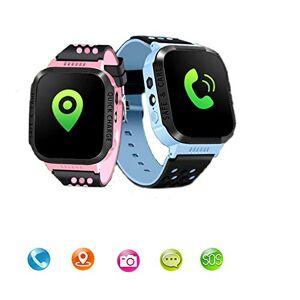 XIEGUANGHU Reloj inteligente impermeable para niños, visualización táctil, reloj celular, rastreador GPS, reloj inteligente con alarma de cámara, SOS, llamadas de dos vías para niños de vuelta a la escuela, regalo de cumpleaños para 4 12 años, Azul