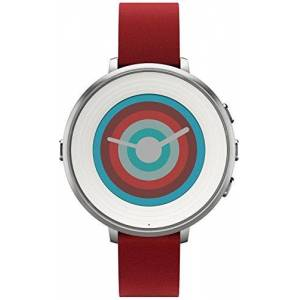 Pebble Technology Corp Smartwatch for iPhone/Android Smartphone Silver/Red