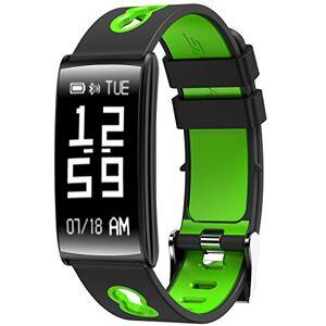 XuBa Reloj Inteligente OLED de 0,96 Pulgadas con visualización táctil 4.0, Monitor de frecuencia cardíaca, IP 67, Resistente al Agua, Verde