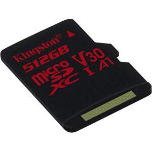 Kingston Tarjeta de Memoria microSDXC de 512 GB para LG Q6a con Formato Personalizado de 100 MB/s con Adaptador SD (Clase 10/UHS-I/U3/A3/V30)