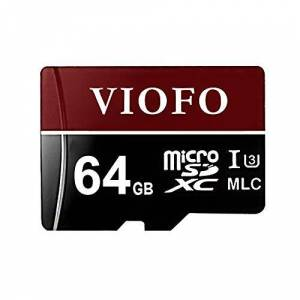 VIOFO 64GB High Speed MLC Micro SDXC U3 Memory Card with Adapter Support Ultra HD 4K Video Recording