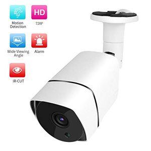 Ciglow PoE HD IP Bullet Camera, Cámara de Seguridad de vigilancia PoE Impermeable al Aire Libre, Visión Nocturna PoE Bullet Cámara CCTV Soporte ONVIF, Detección de Movimiento(720P)