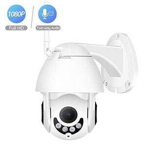 MOVE CC-webcam Mini cámara Domo de 6 Pulgadas 1080P WiFi PTZ para Exteriores, IP66, Impermeable, inalámbrica, cámara de Seguridad para el hogar, 1080P with 32G Card-1, 3.6mm