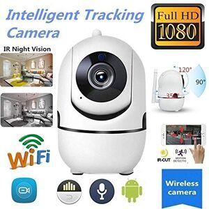 Dishykooker Wireless IP WiFi HD IR Cut Home Security Camera 1080P 2 Way Audio Monitor (UK Plug)