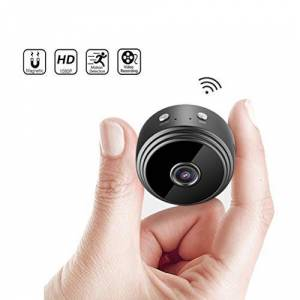 QIQCD -SXT Noche Detección De Cámara Inalámbrica Wi-Fi Mini Cámara HD 1080P Pequeña Micro Motion CAM Vision Security Monitor Videocámaras For Interiores Y Exteriores (Color : Without TF Card)