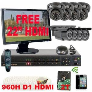 GW Security VDA8CHP7 8 Channel 960H HDMI CCTV Security Surveillance DVR System (Grey)