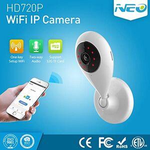 Jiangym Cámara inalámbrica Cámara IP WiFi for Interiores Neo NIP55AI, con visión Nocturna por Infrarrojos, Monitor multiángulo y Control Remoto de teléfonos móviles Cámara inalámbrica
