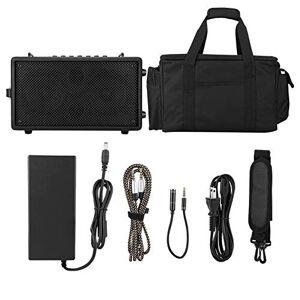 Bewinner Musiccube Bluetooth4.2 Karaoke Portátil, Caja de Altavoz de Refuerzo de Sonido de Madera, Cable de Audio de 3.55 mm, Compatible con Interfaz de 6.35Mmj, 12 Canales de Efecto Estéreo(US Plug)