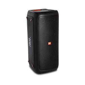 JBL Potente Altavoz portátil para Fiestas con Efectos de luz vívida, conectividad Bluetooth, y Entrada de micrófono/Guitarra.