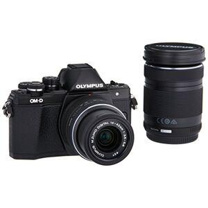 """Olympus OM-D E-M10 Mark II +14-42mm II R + 40-150mm F4.5-5.6 R MILC 16.1 MP 4/3"""" Live MOS 4608 x 3456 Pixeles Negro Cámara digital (16.1 MP, 4608 x 3456 Pixeles, Live MOS, Full HD, Pantalla táctil, Negro)"""