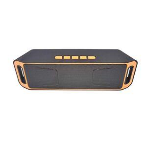 Studyset Altavoz inalámbrico Columna estéreo subwoofer USB Altavoces Integrado micrófono Graves Reproductor de MP3 Caja de Sonido, Anaranjado