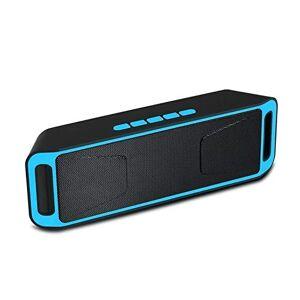 Studyset Altavoz inalámbrico Columna estéreo subwoofer USB Altavoces Integrado micrófono Graves Reproductor de MP3 Caja de Sonido, Azul