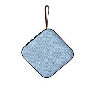 Ocamo Altavoz portátil Mini inalámbrico con Sistema de Sonido de 10 W estéreo para Exteriores, Compatible con Tarjeta FM TF Azul YJJ190624-dianzi-FD096BF2C6