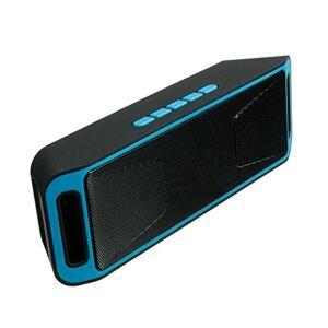 Ocamo Bocina inalámbrica Bluetooth con USB, radio FM, reproductor de MP3 estéreo, compatible con tarjeta TF, tiempo de reproducción de hasta 5 horas (conexión Bluetooth, bocina de sonido de graves dobles, manos libres, micrófono de alta definición), Azul