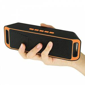 SSEDEW Altavoz Bluetooth inalámbrico USB Flash FM Radio estéreo MP3 Soporte Tarjeta TF Anaranjado SZLXX-DZTX0108-B2ED67EC30