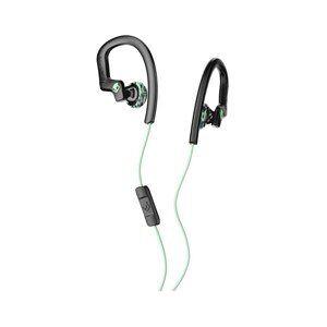 Skullcandy chuletas Flex Resistente al Sudor Deporte Auriculares con micrófono en línea y Mando a Distancia, cómodo y Seguro Flexible Ear Percha de Ropa de Ropa, Negro/Menta/Swirl