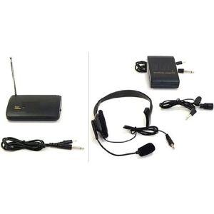 Hisonic wm606Funciona con Pilas VHF Single-Channel Micrófono inalámbrico de videocámara