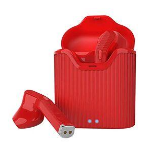 Kukakoo Auriculares deportivos con aislamiento de ruido, H19T Bluetooth 5.0 TWS bajos estéreo inalámbricos para iOS Android para iPhone, iPod, iPad, Android, MP3, MP4 Rojo 7OTGXUZU4UFN7R9HWBU392HAI
