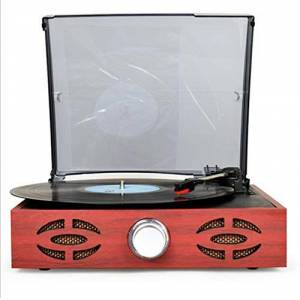FANGSHUAI Grabación de la Vendimia Máquina Disco de Vinilo Jugador Moderno clásico Antiguo fonógrafo Retro salón Europeo Inicio Tocadiscos,Natural