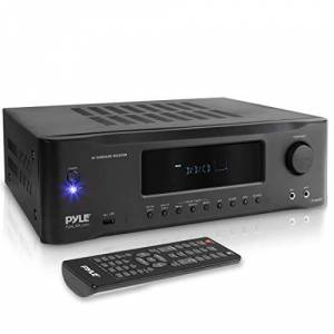 Pyle 5.2-Channel Hi-Fi Bluetooth Stereo Amplifier 1000 Watt AV Home Speaker Subwoofer Sound Receiver with Radio, USB, RCA, HDMI, Mic In, Wireless Streaming, Supports 4K UHD TV, 3D, BLU-Ray PT694BT