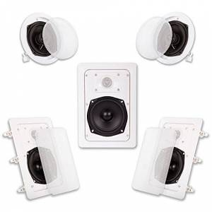 Acoustic Audio HT-55 5.1 Home Theater Bocina System (White, 5)