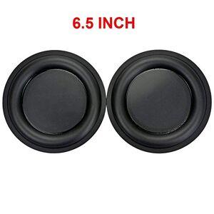 Fotcus 2 Piezas de 6.5 Pulgadas estéreo fortalecedor DIY Bass Vibration Plate Membrana/vibración Altavoz pasivo radiador de Repuesto