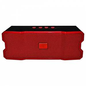 LINK BITS Bocina Bluetooth SLC-060 Rojo, Recargable Manos Libres, USB Dual, Micro SD, FM, Alta Fidelidad.
