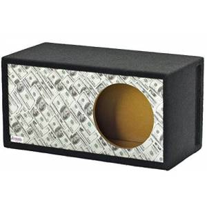 "Atrend GFX Series 12LSVBB-Bankroll $100 Bills Pattern Single Vented SPL 12"" Subwoofer Enclosure"