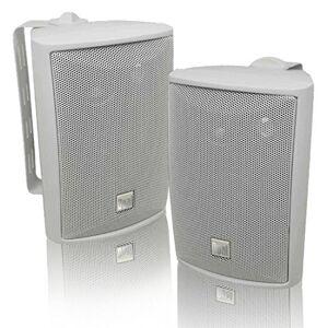 Dual LU43PW 100 Watt 3-way Indoor/Outdoor Bocinas in White (Pair)