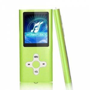 XuBa Slim 1.8″ LCD MP4 MP3 Music Media Video Player FM-Radio Recorder (Without Memory) Green