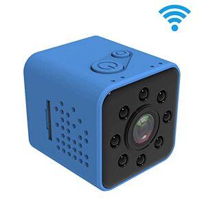 JUNXI Camera SQ23 Ultra-Mini DV Pocket WiFi 1080P 30 fps Grabadora de video digital Cámara de 2.0MP con videocámara con estuche a prueba de agua de 30 m, compatible con visión nocturna por infrarrojos (negr
