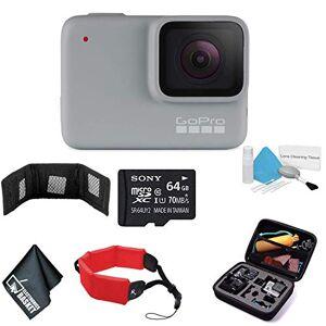 GoPro HERO7 Cámara de acción Digital Impermeable con visualización táctil 1080p HD Video 10MP Fotos CHDHB-601 Paquete con Tarjetas de Memoria de 64 GB + Correa Flotante + más