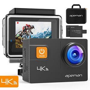 APEMAN Cámara de Acción 4K 20MP Ultra HD Subacuático Impermeable 40M Videocámara Deportiva, Kit de Accesorios de Montaje