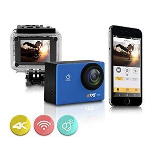 HYPECAM Cámara de acción Deportiva WiFi Premium 4k   videocámara Impermeable Ultra HD   Lente Gran Angular de 16MP 170   visualización LCD de 2 Pulgadas y Kit de Accesorios Completo