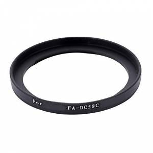 Vbestlife Anillo Adaptador de Filtro de Lente de 58 mm, Adaptador de Filtro de Lente de aleación Negra Accesorio de Lente de cámara para Canon Powershot G1X