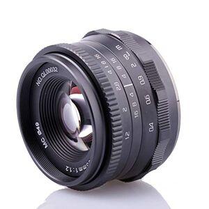 RISESPRAY 35 mm F1.2 lente de aluminio APS-C de gran apertura para cámara sin espejo (montura Micro 4/3)