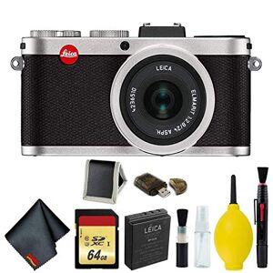 Leica X2 Cámara compacta digital con lente Elmarit 24mm f/2.8 ASPH (plata) paquete de memoria Modelo internacional