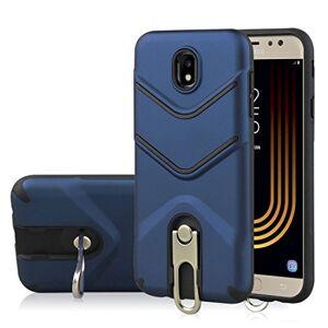 Jdon-case, Phone fundas Covers Para Samsung Galaxy J7 (2017) (Versión EU), TPU + PC Funda protectora a prueba de golpes con soporte giratorio para Samsung Galaxy J7 (2017) (Versión EU) (Color : Blue)