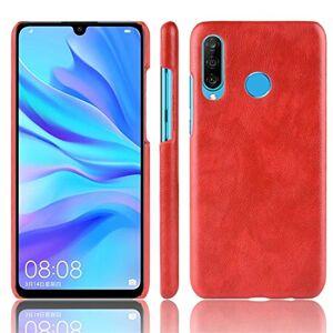 JIN-MX JINCASE Accesorios del teléfono móvil Funda Protectora a Prueba de Golpes Litchi PC PU Compatible for Galaxy M30 Estuche Protector (Color : Red)