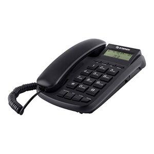 STEREN TEL-225 Analog Telephone Identificador de Llamadas Negro Teléfono (Teléfono analógico, Wired & Wireless Headset, Altavoz, Identificador de Llamadas, Negro)